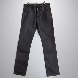 Politix Slim Straight Black Jeans - Size 32